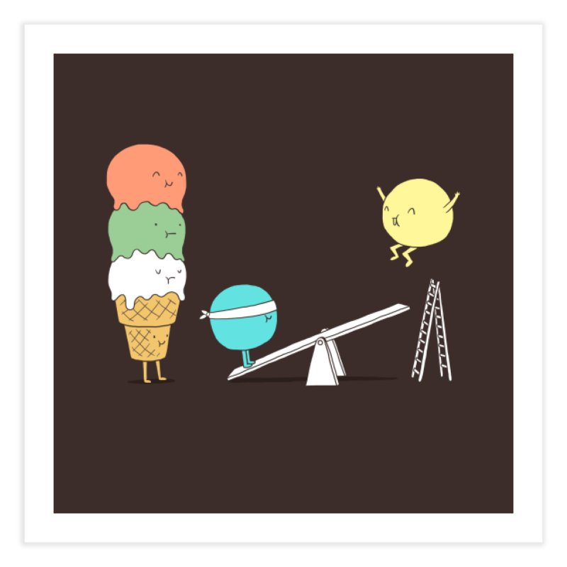 Acrobatic Ice Cream Home Fine Art Print by ilovedoodle's Artist Shop