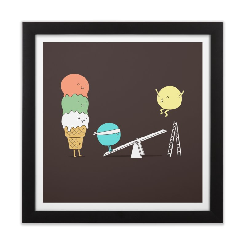 Acrobatic Ice Cream Home Framed Fine Art Print by ilovedoodle's Artist Shop