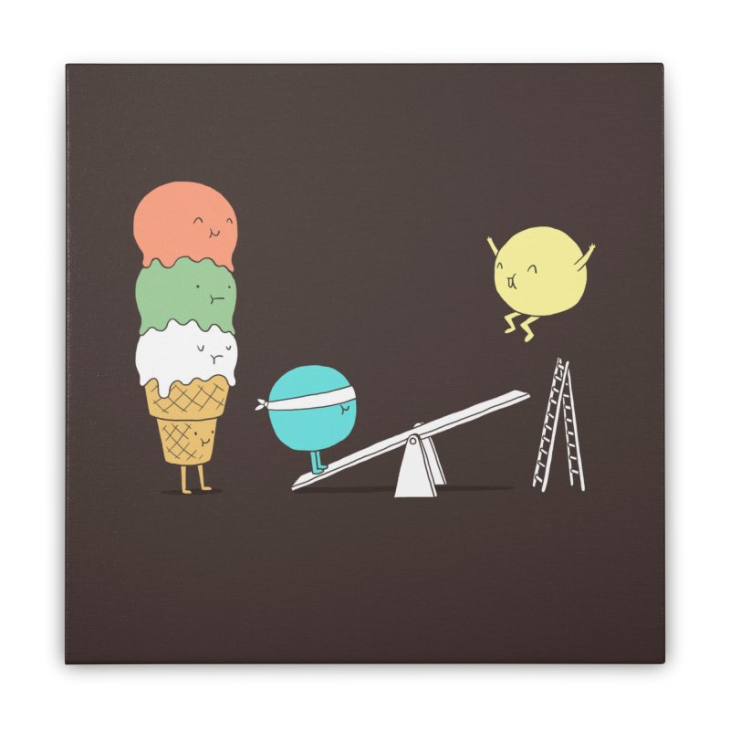Acrobatic Ice Cream Home Stretched Canvas by ilovedoodle's Artist Shop