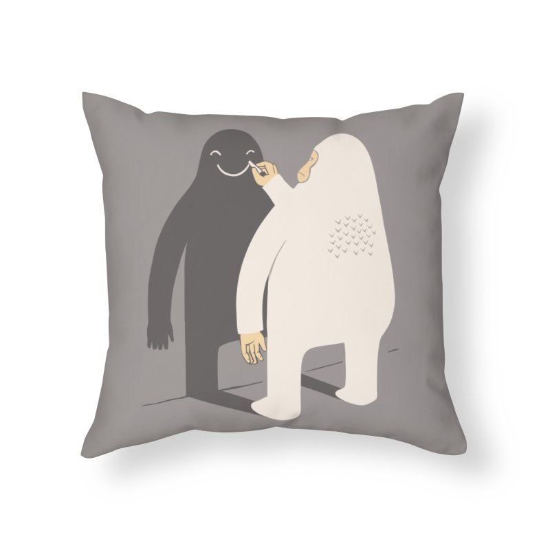 Smile My Shadow Home Throw Pillow by ilovedoodle's Artist Shop