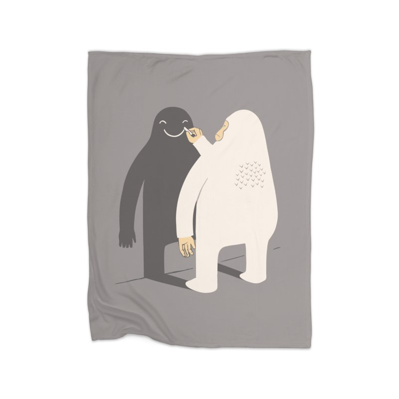 Smile My Shadow Home Fleece Blanket by ilovedoodle's Artist Shop