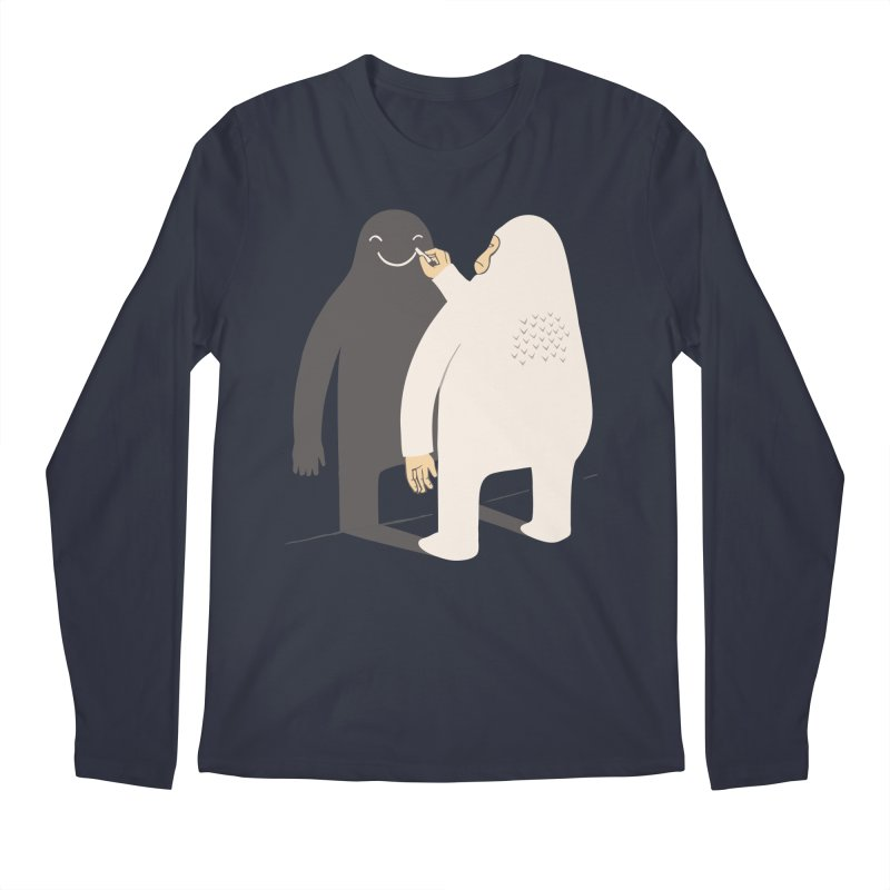 Smile My Shadow Men's Longsleeve T-Shirt by ilovedoodle's Artist Shop