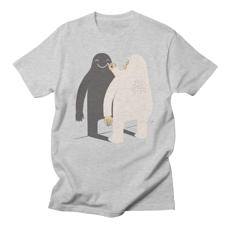 Smile My Shadow Men's T-shirt by ilovedoodle's Artist Shop
