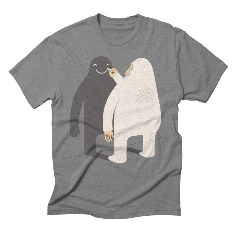 Smile My Shadow Men's Triblend T-shirt by ilovedoodle's Artist Shop