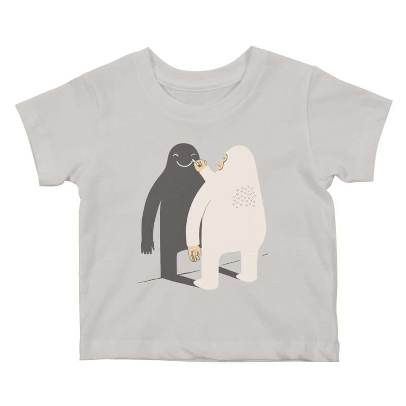 Smile My Shadow Kids Baby T-Shirt by ilovedoodle's Artist Shop