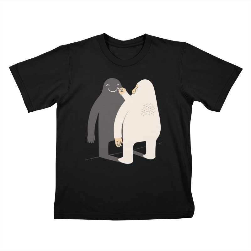 Smile My Shadow Kids T-shirt by ilovedoodle's Artist Shop