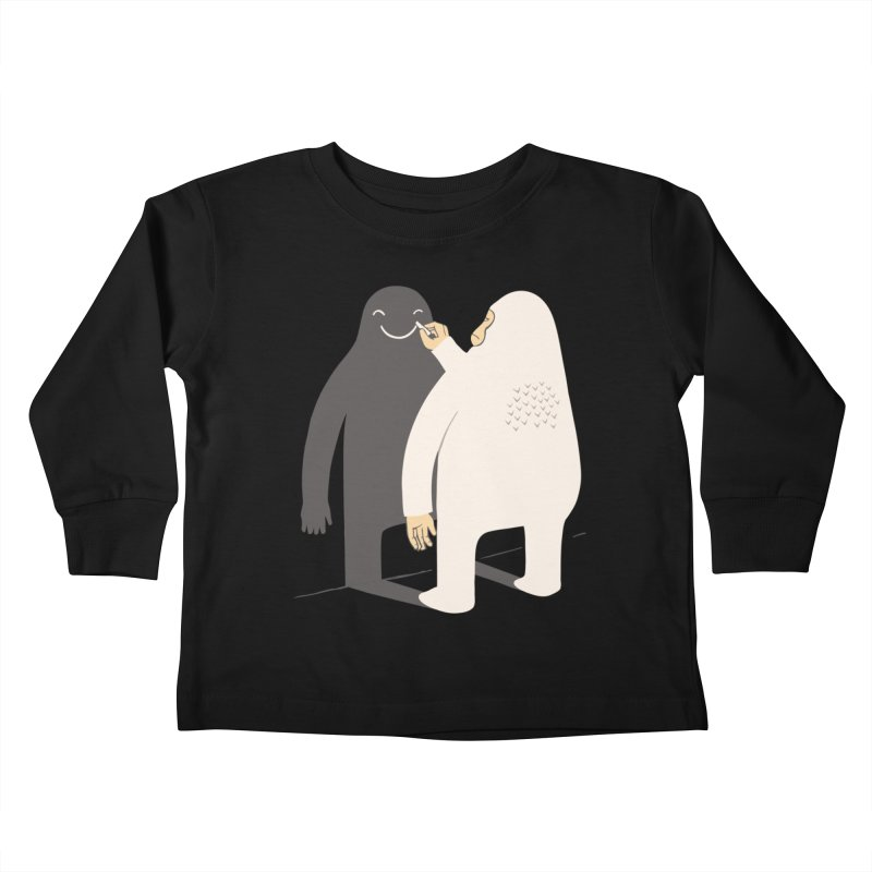 Smile My Shadow Kids Toddler Longsleeve T-Shirt by ilovedoodle's Artist Shop