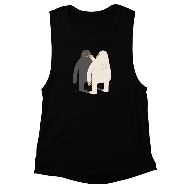 Smile My Shadow Women's Muscle Tank by ilovedoodle's Artist Shop