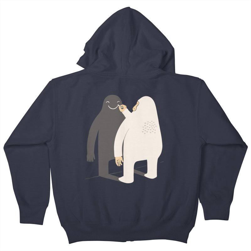 Smile My Shadow Kids Zip-Up Hoody by ilovedoodle's Artist Shop