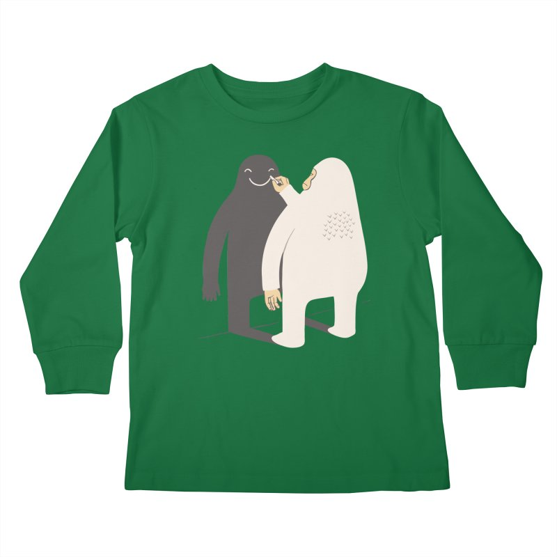 Smile My Shadow Kids Longsleeve T-Shirt by ilovedoodle's Artist Shop