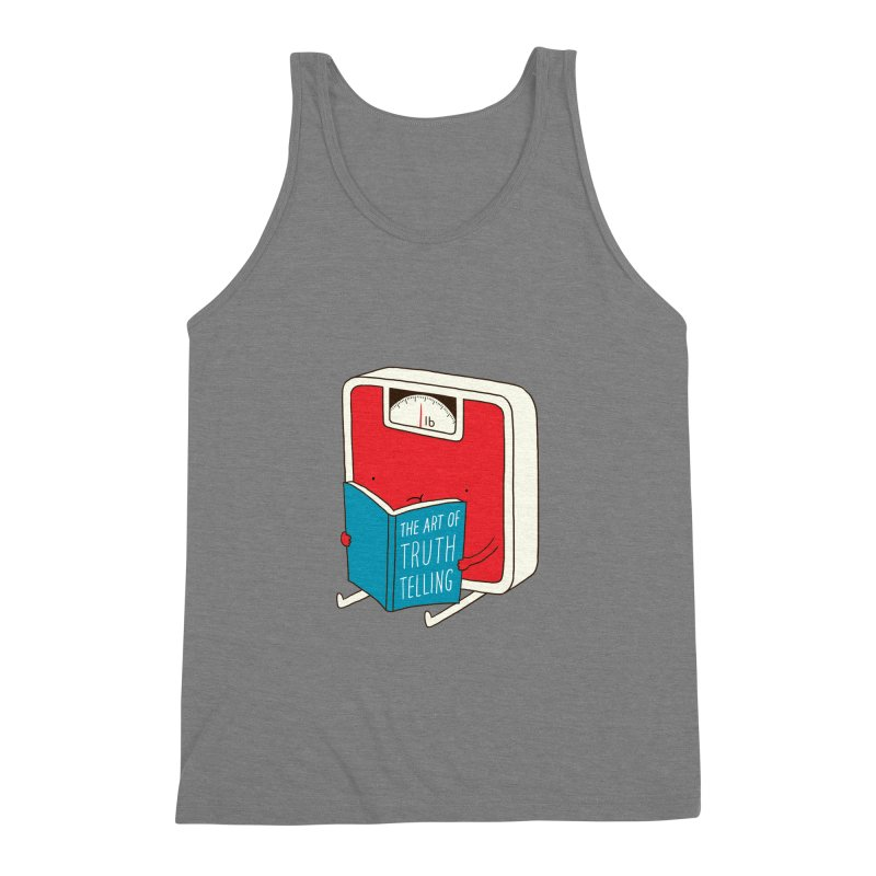 The art of Truth Telling Men's Triblend Tank by ilovedoodle's Artist Shop