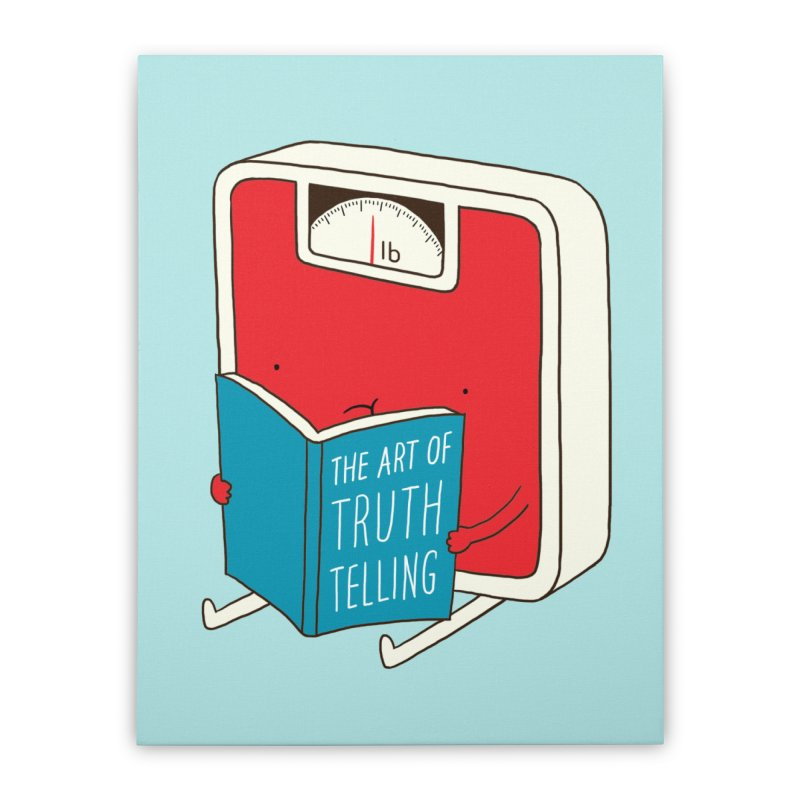 The art of Truth Telling Home Stretched Canvas by ilovedoodle's Artist Shop