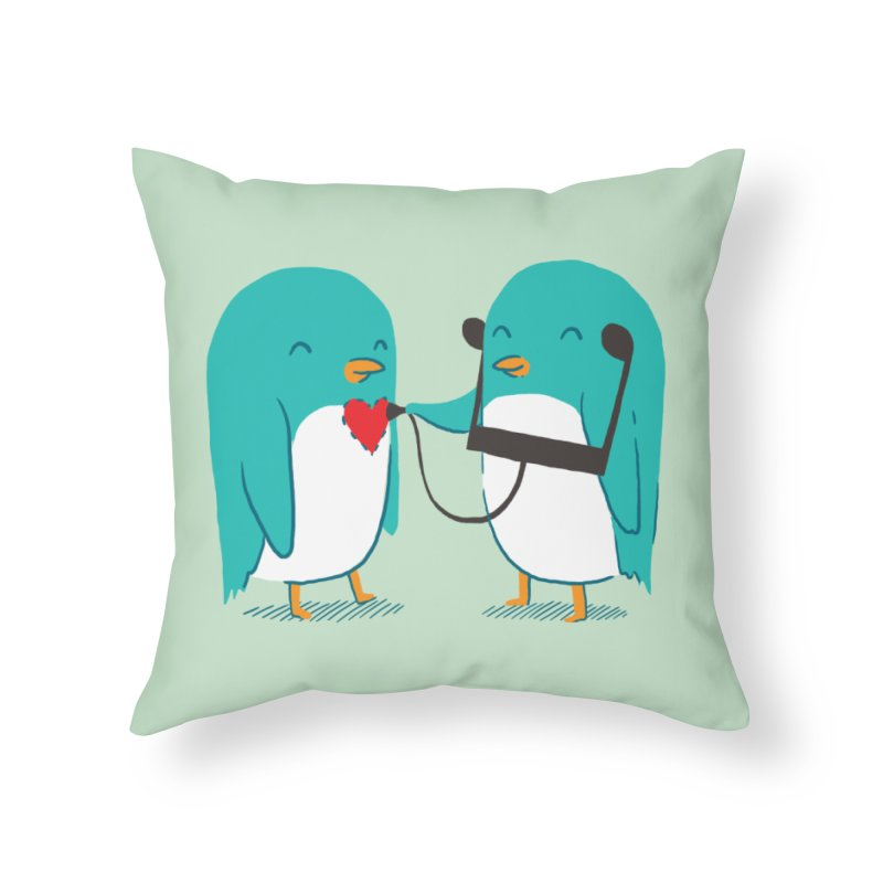 The Sound of Love Home Throw Pillow by ilovedoodle's Artist Shop