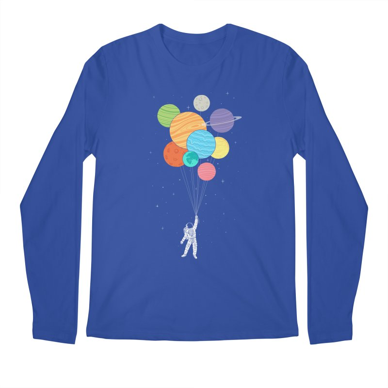 Planet Balloons Men's Longsleeve T-Shirt by ilovedoodle's Artist Shop