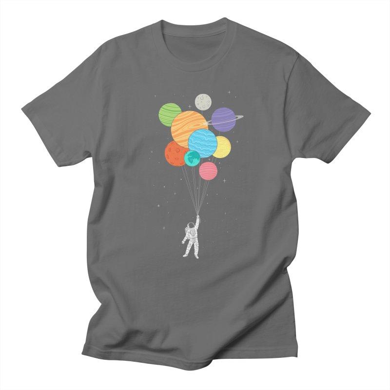 Planet Balloons Men's T-shirt by ilovedoodle's Artist Shop