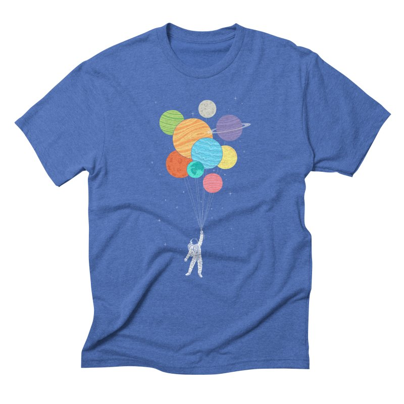 Planet Balloons Men's Triblend T-Shirt by ilovedoodle's Artist Shop