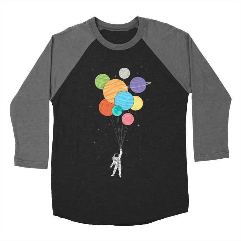 Planet Balloons Women's Baseball Triblend T-Shirt by ilovedoodle's Artist Shop