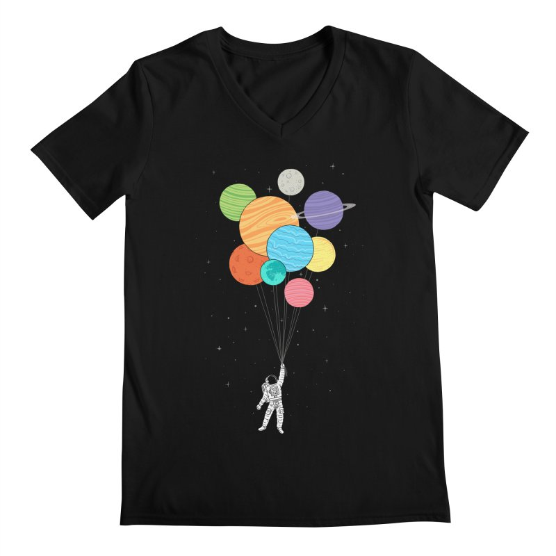 Planet Balloons Men's V-Neck by ilovedoodle's Artist Shop