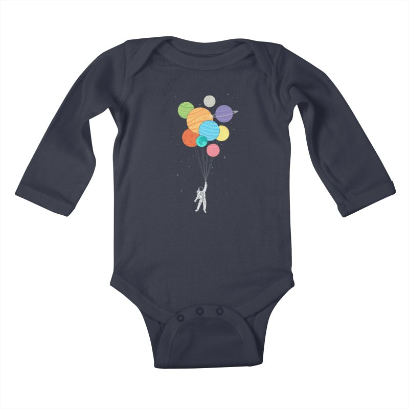 Planet Balloons Kids Baby Longsleeve Bodysuit by ilovedoodle's Artist Shop