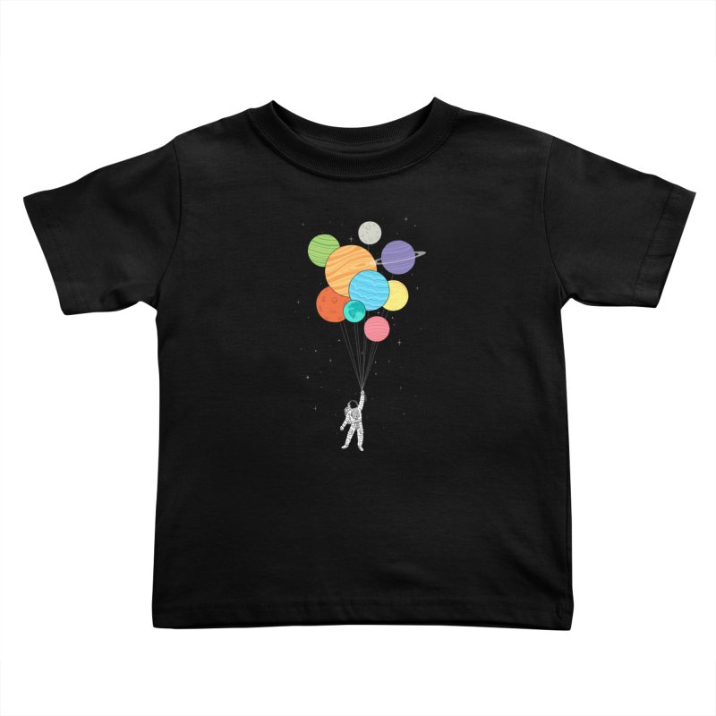 Planet Balloons Kids Toddler T-Shirt by ilovedoodle's Artist Shop
