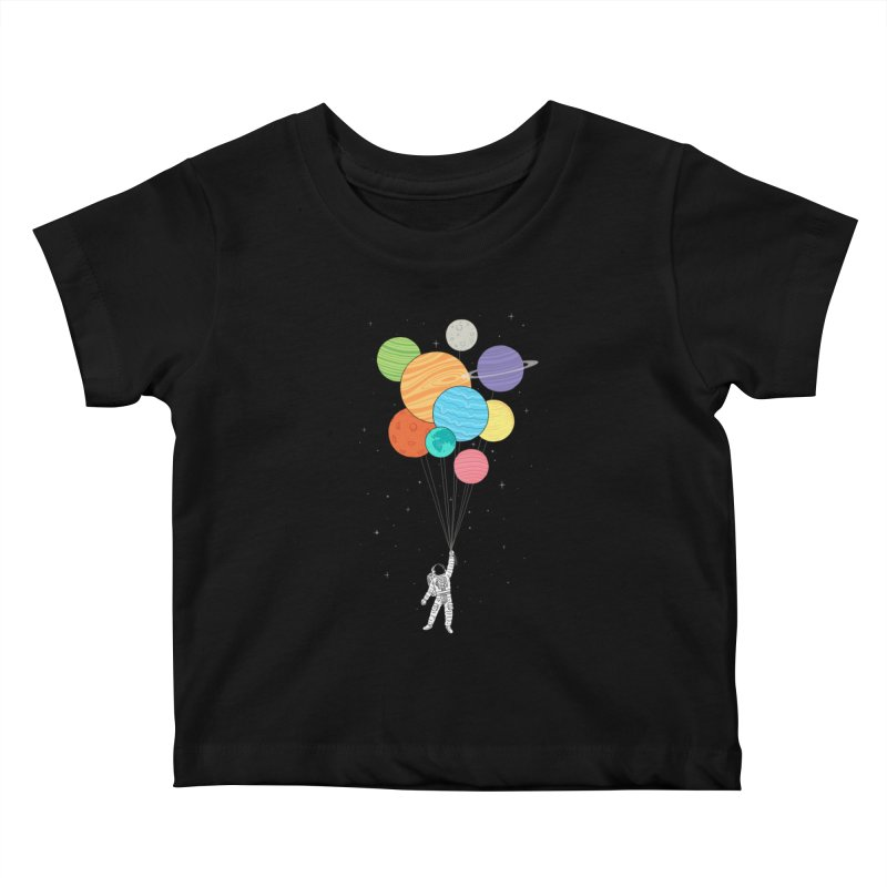 Planet Balloons Kids Baby T-Shirt by ilovedoodle's Artist Shop