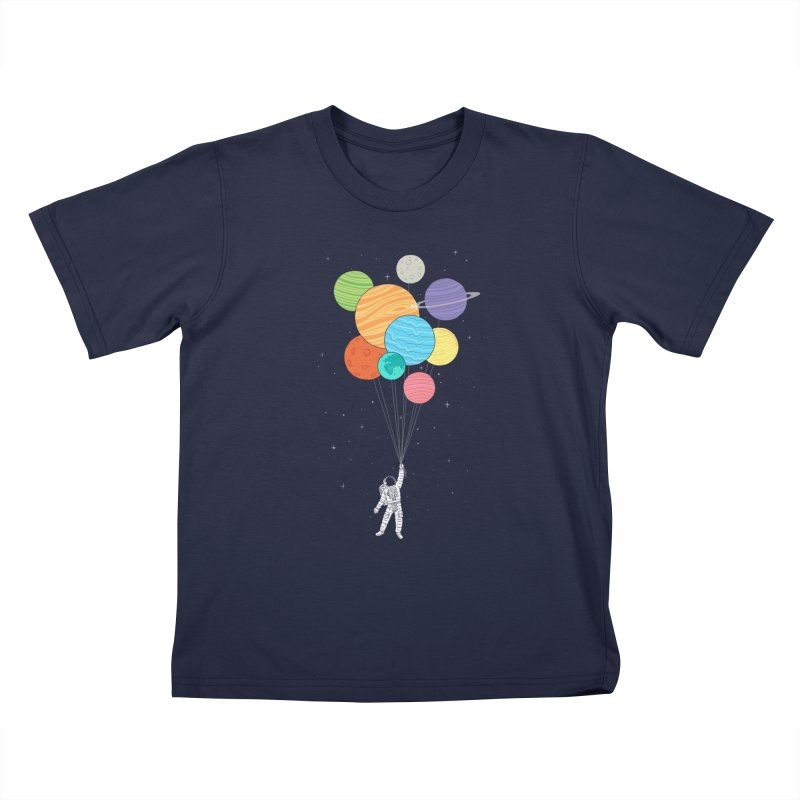 Planet Balloons Kids T-Shirt by ilovedoodle's Artist Shop