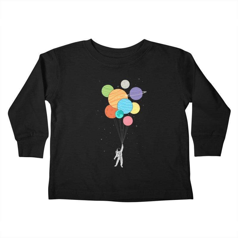Planet Balloons Kids Toddler Longsleeve T-Shirt by ilovedoodle's Artist Shop