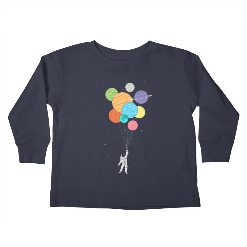 Planet Balloons Kids Toddler Longsleeve T-Shirt by ilovedoodle's Artist Shop