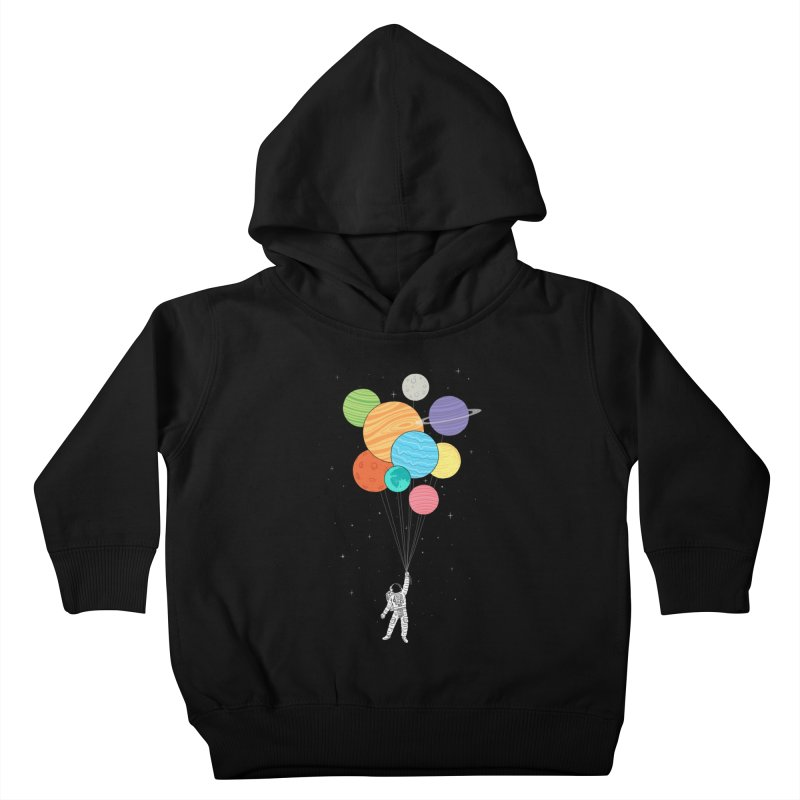 Planet Balloons Kids Toddler Pullover Hoody by ilovedoodle's Artist Shop