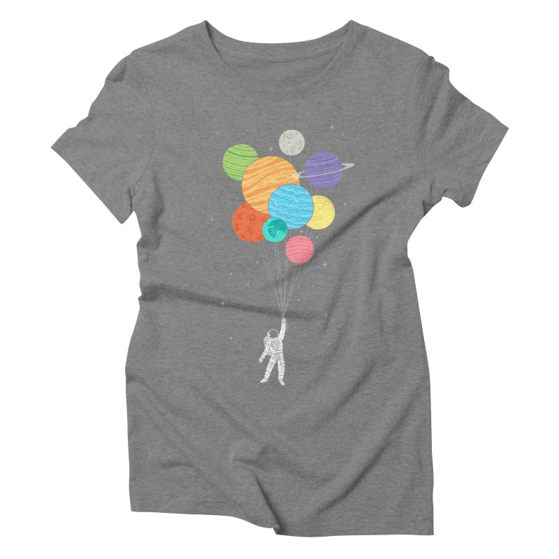 Planet Balloons Women's Triblend T-Shirt by ilovedoodle's Artist Shop