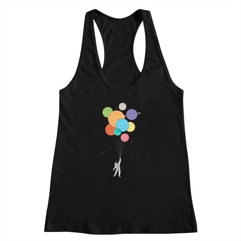 Planet Balloons Women's Racerback Tank by ilovedoodle's Artist Shop
