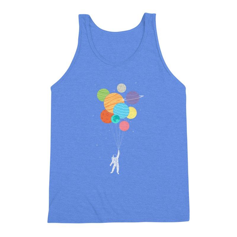 Planet Balloons Men's Triblend Tank by ilovedoodle's Artist Shop