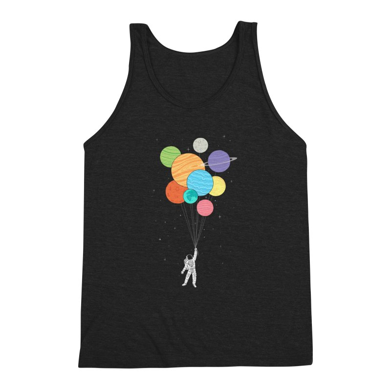 Planet Balloons Men's Triblend Tank by ilovedoodle's Artist Shop