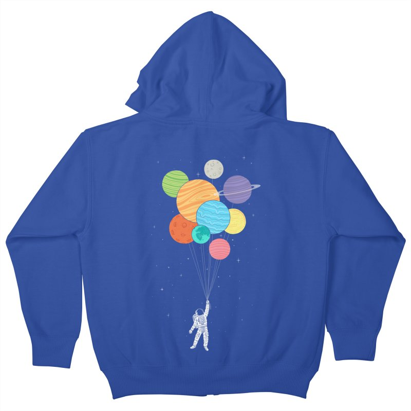 Planet Balloons Kids Zip-Up Hoody by ilovedoodle's Artist Shop