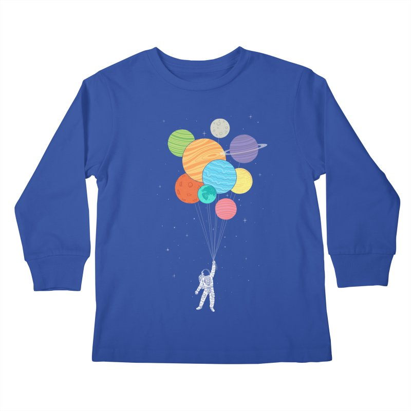 Planet Balloons Kids Longsleeve T-Shirt by ilovedoodle's Artist Shop
