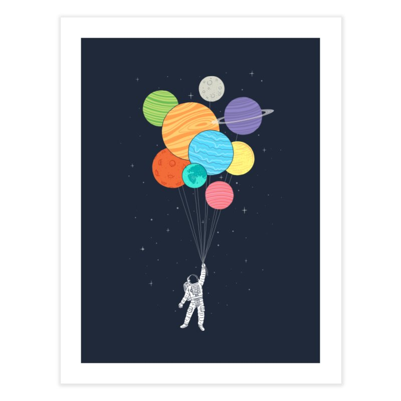 Planet Balloons Home Fine Art Print by ilovedoodle's Artist Shop