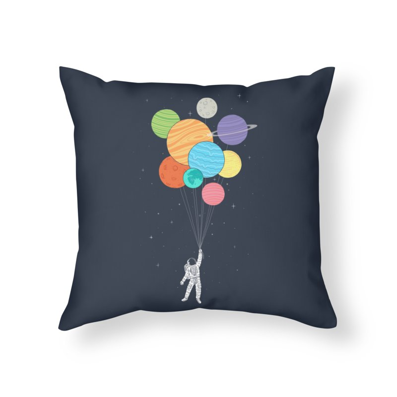 Planet Balloons Home Throw Pillow by ilovedoodle's Artist Shop