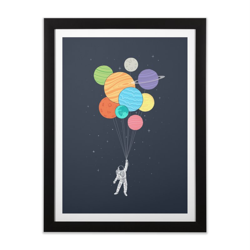 Planet Balloons Home Framed Fine Art Print by ilovedoodle's Artist Shop