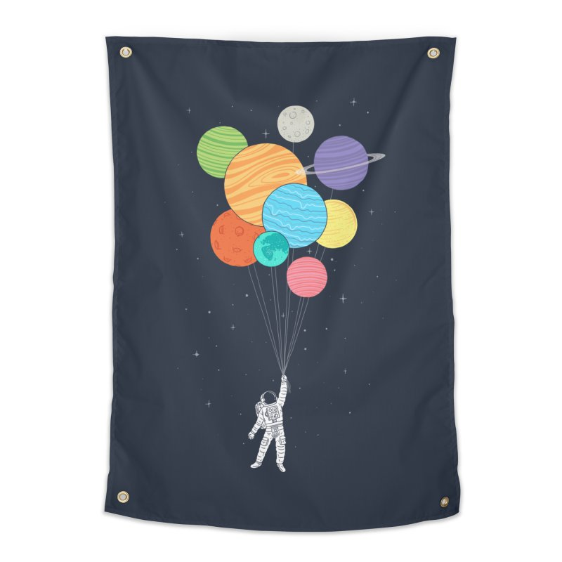 Planet Balloons Home Tapestry by ilovedoodle's Artist Shop