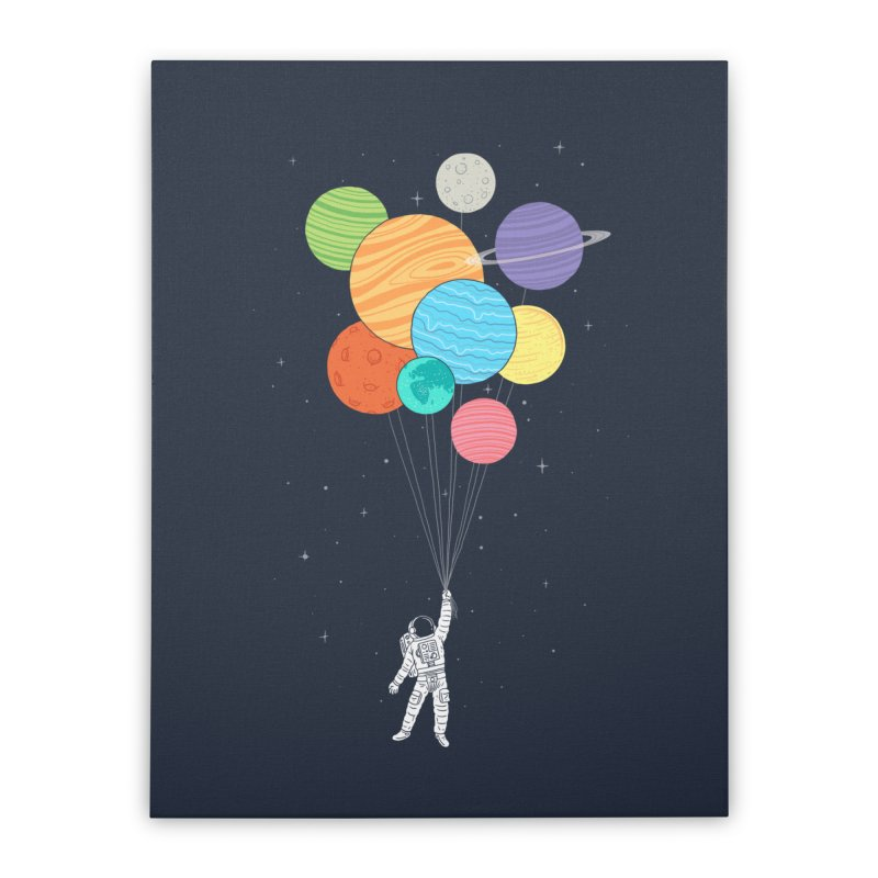 Planet Balloons Home Stretched Canvas by ilovedoodle's Artist Shop