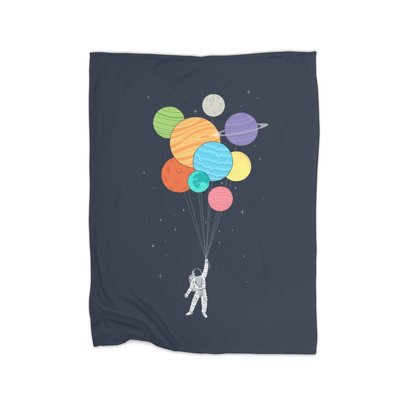 Planet Balloons Home Blanket by ilovedoodle's Artist Shop