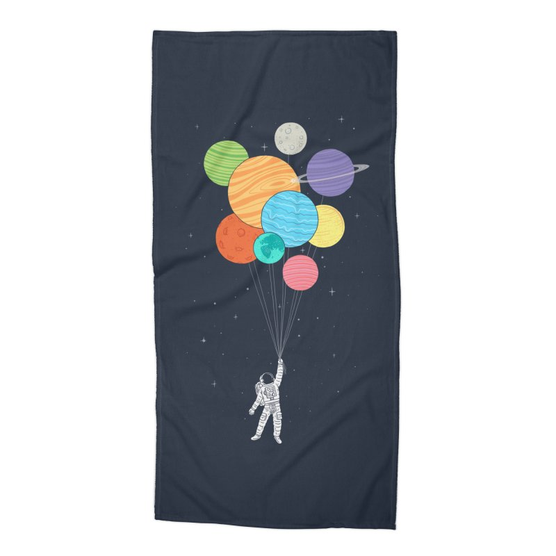 Planet Balloons Accessories Beach Towel by ilovedoodle's Artist Shop