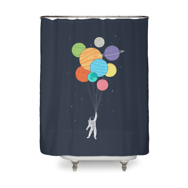 Planet Balloons Home Shower Curtain by ilovedoodle's Artist Shop