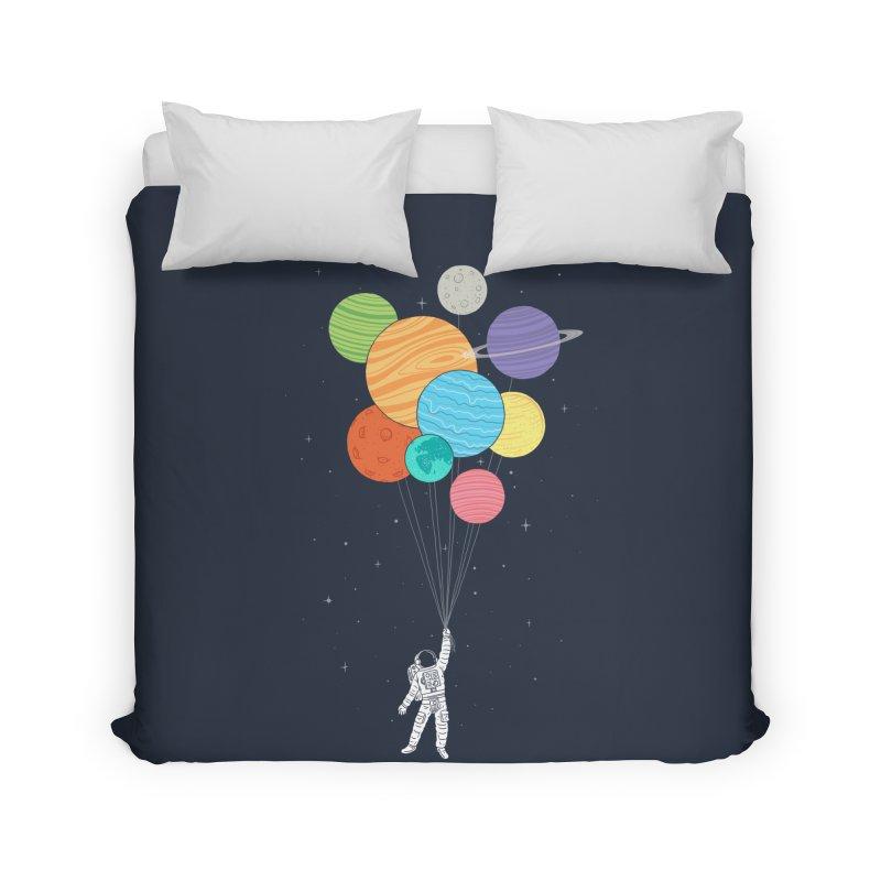 Planet Balloons Home Duvet by ilovedoodle's Artist Shop