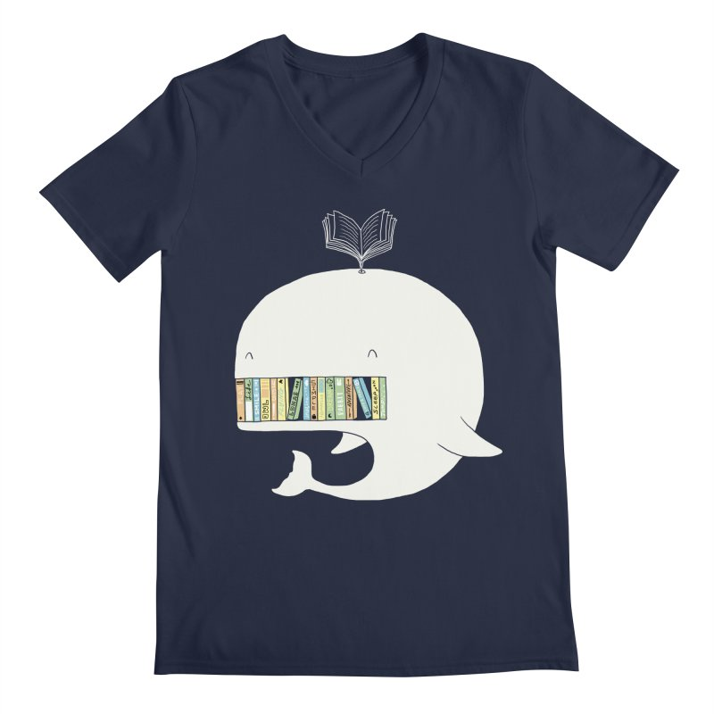 The Whaley Big Bookshelf Men's V-Neck by ilovedoodle's Artist Shop