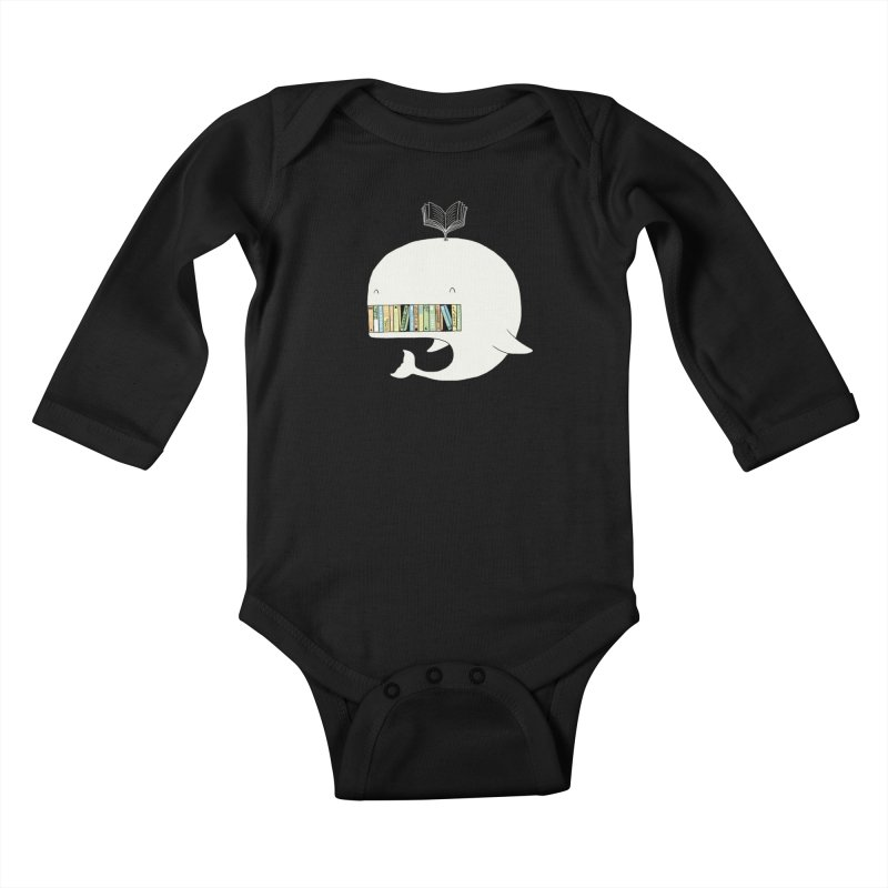 The Whaley Big Bookshelf Kids Baby Longsleeve Bodysuit by ilovedoodle's Artist Shop