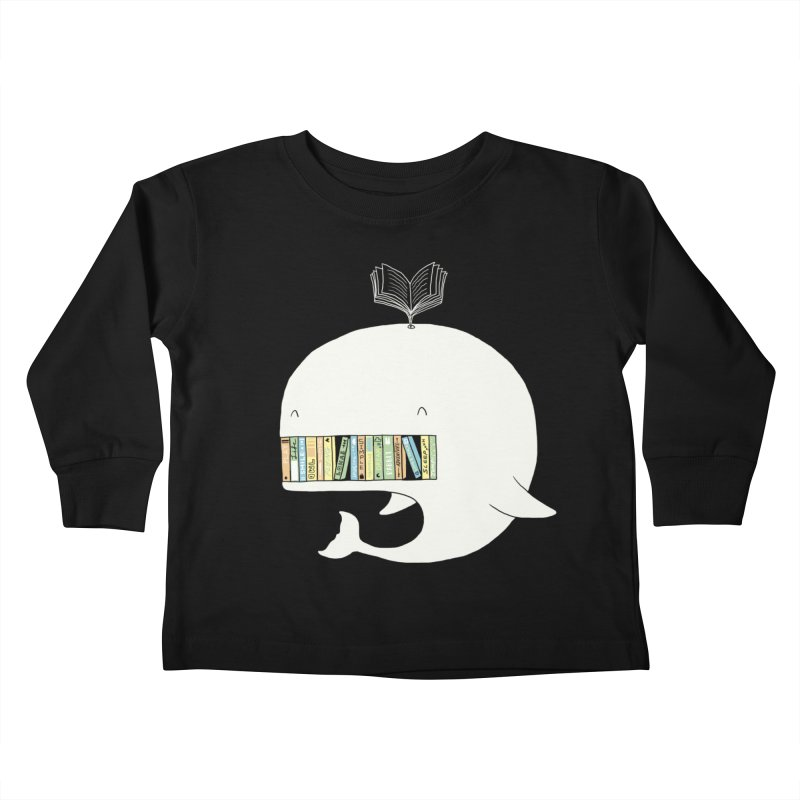 The Whaley Big Bookshelf Kids Toddler Longsleeve T-Shirt by ilovedoodle's Artist Shop