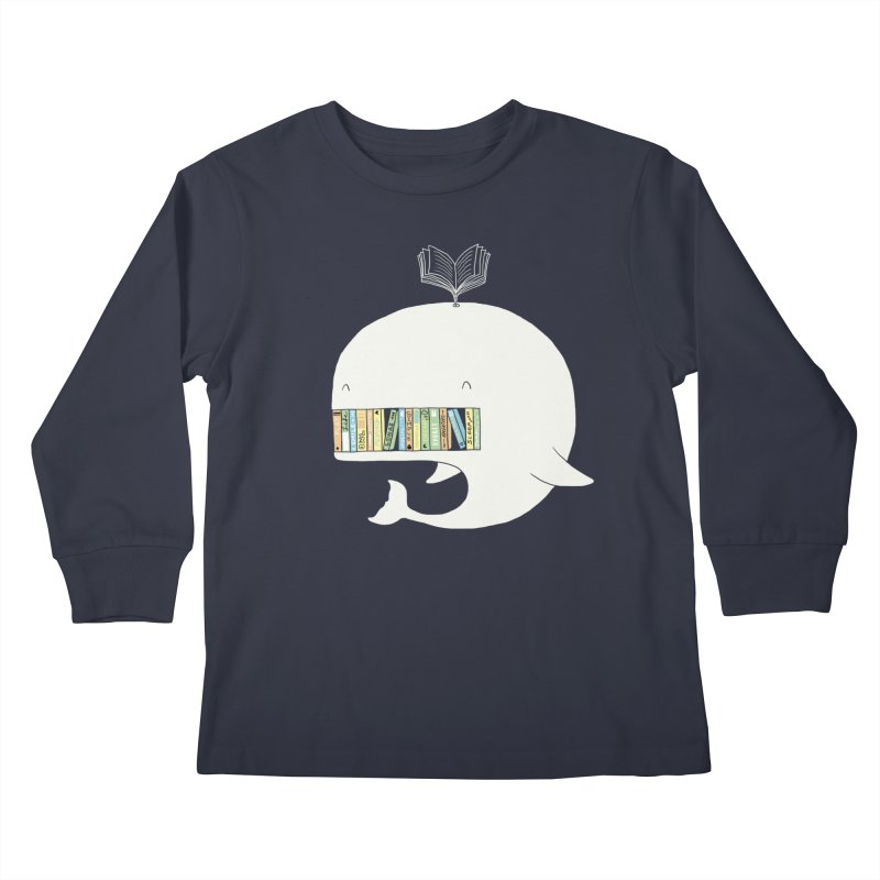 The Whaley Big Bookshelf Kids Longsleeve T-Shirt by ilovedoodle's Artist Shop