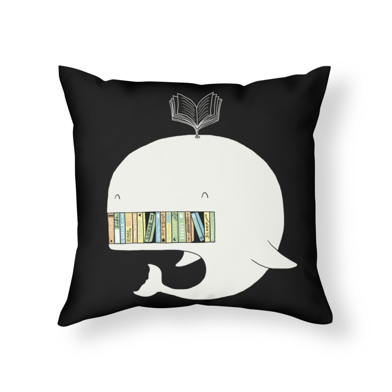 The Whaley Big Bookshelf Home Throw Pillow by ilovedoodle's Artist Shop