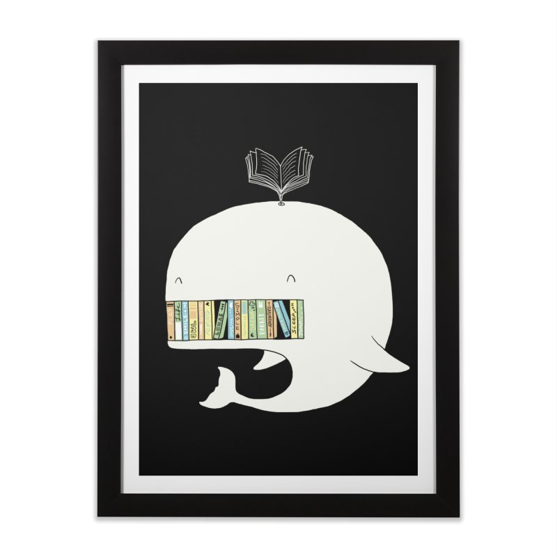 The Whaley Big Bookshelf Home Framed Fine Art Print by ilovedoodle's Artist Shop